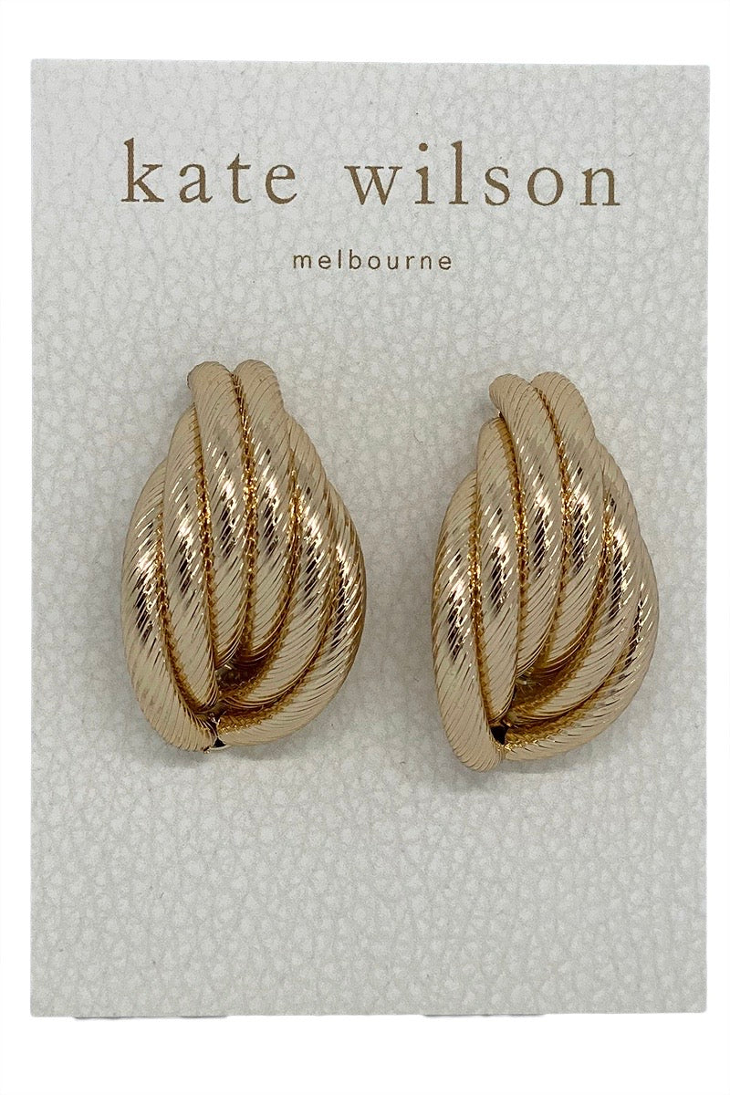 Kate Wilson Rope Earring in Gold