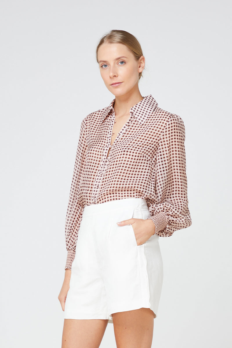 Elka La Rochelle Shirt in Blush Gingham