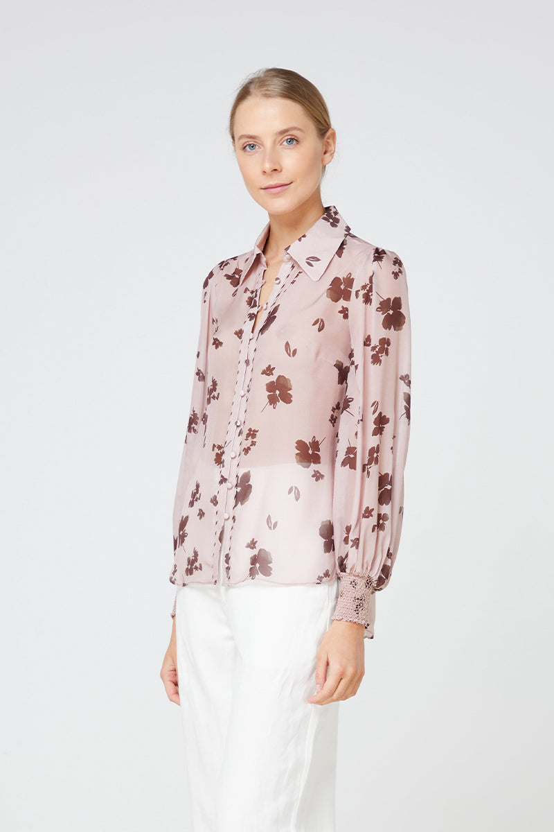 Elka Portofino Shirt in Blush Floral