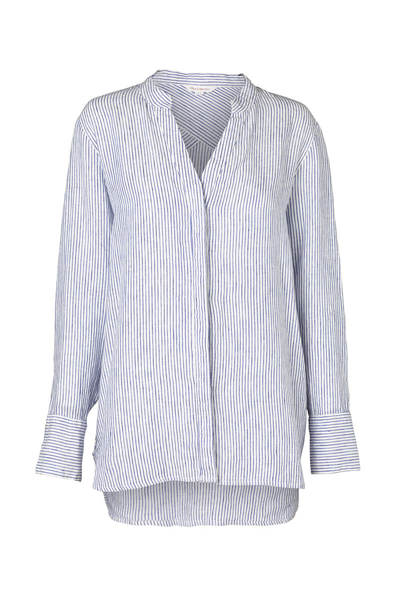 Elka Jemma Shirt in Blue Stripe
