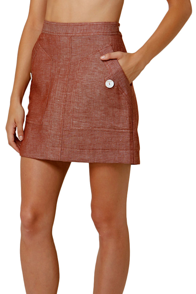 Elka Lydia Skirt in Copper