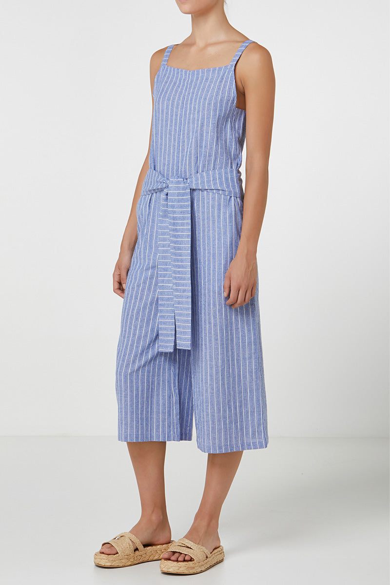 Elka Francesca Jumpsuit in Blue Stripe