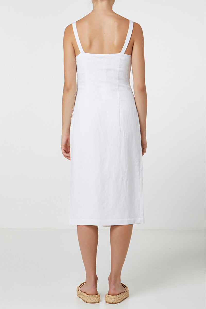 Elka Scarlet Dress in White