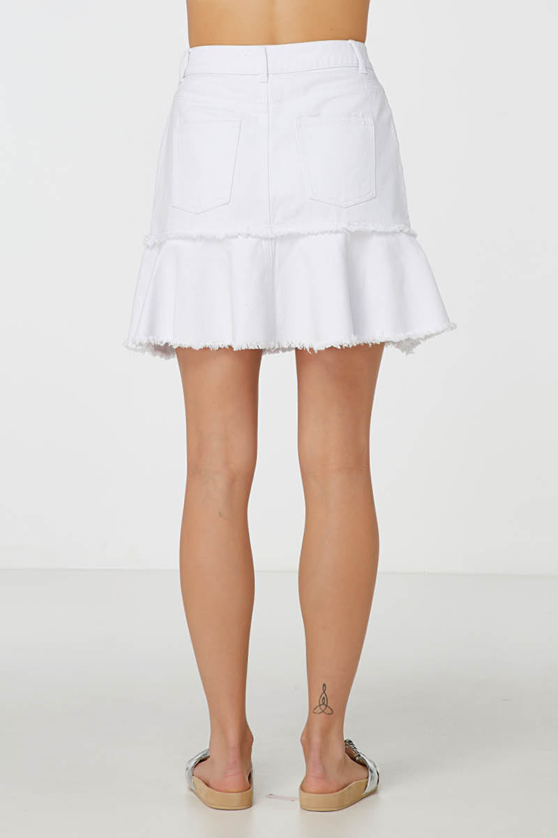 Elka Sabita Skirt in White