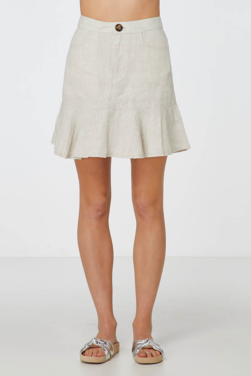 Elka Riley Skirt in Natural
