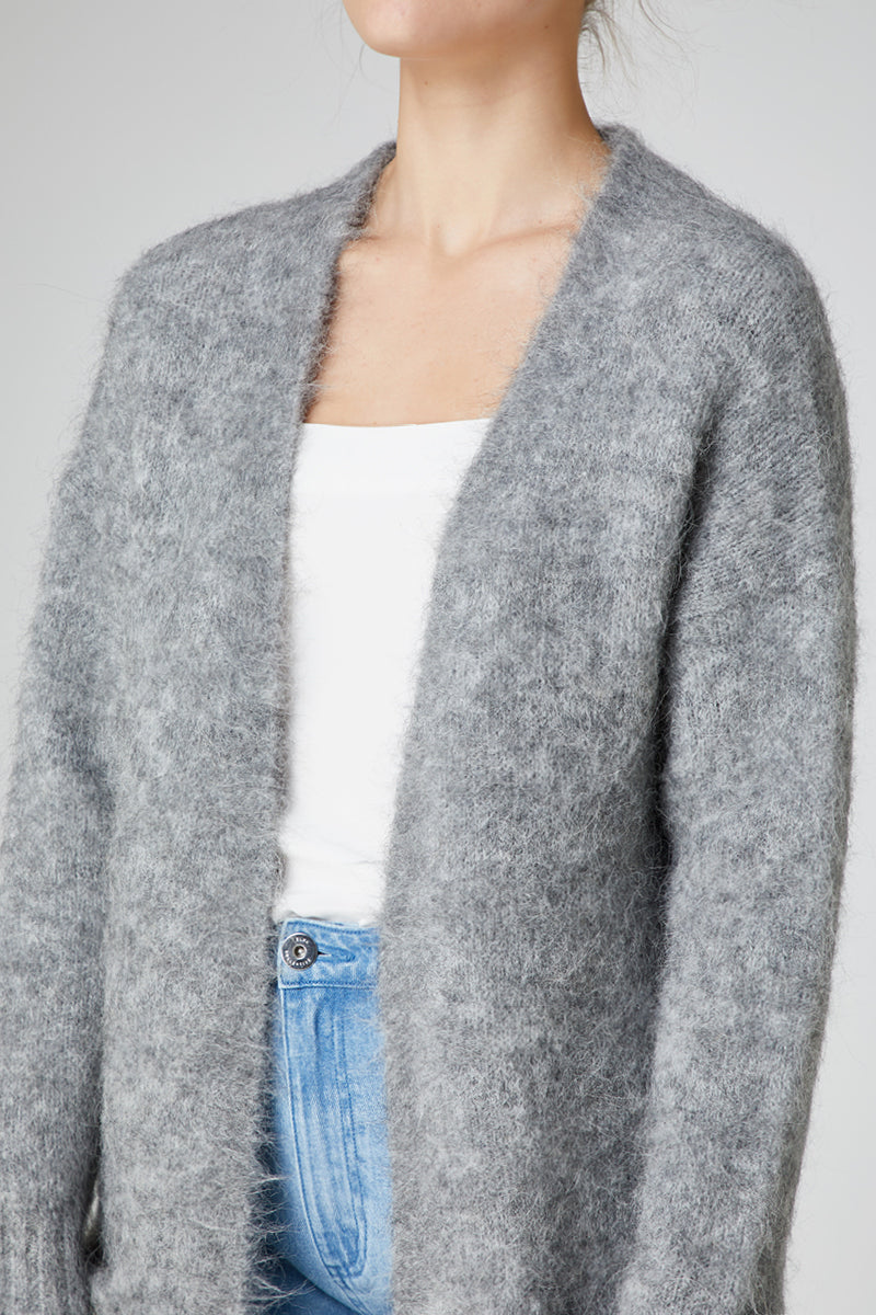 Elka Aurora Knit Jacket in Grey Marle