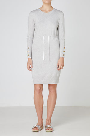 Elka Sydney Knit Dress in Light Grey Marle
