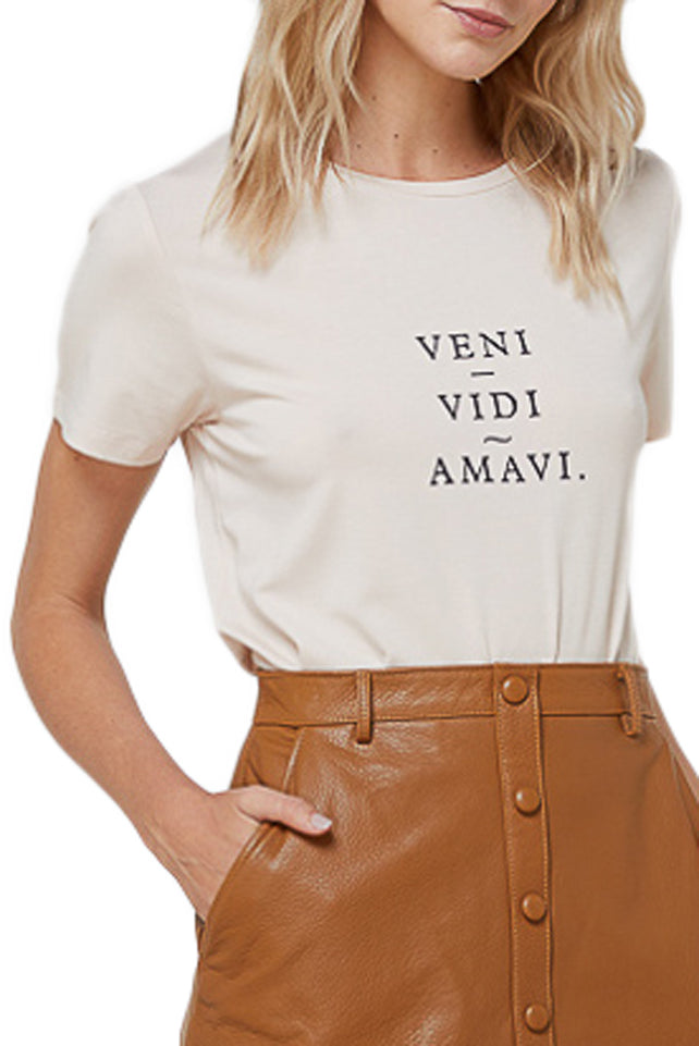 Elka Veni Vidi Amavi Tee in Dusty Pink
