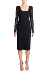 Rebecca Vallance Le Saint Lace Dress in Black