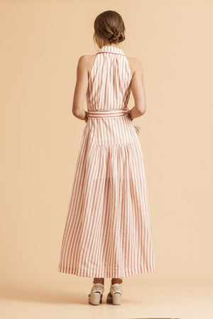 Paddo To Palmy Les Jolie Maxi Dress in Pink & White