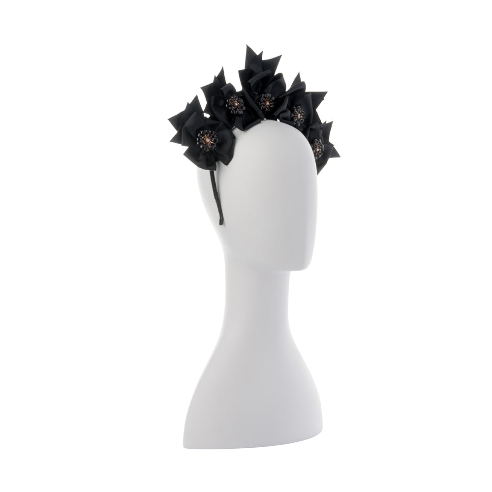 Olga Berg Jada Grosgrain Flower Headband