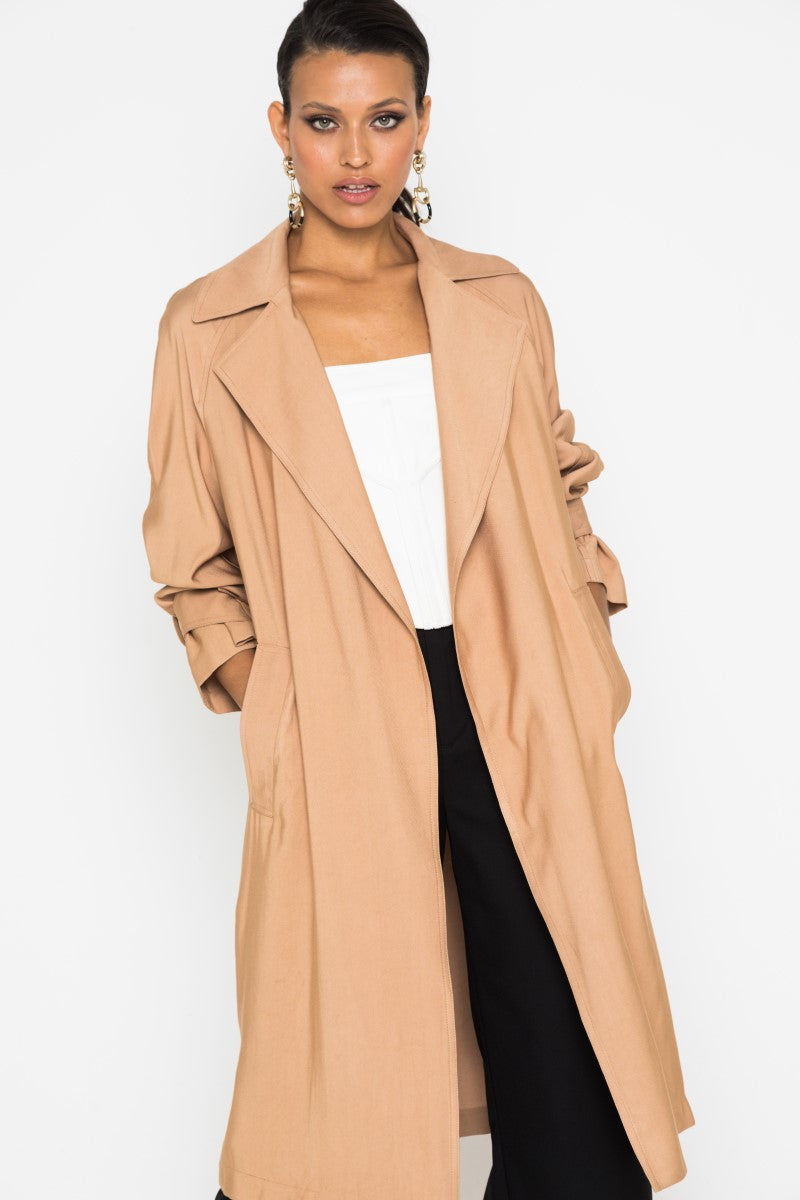Mossman Low Key Trench in Camel