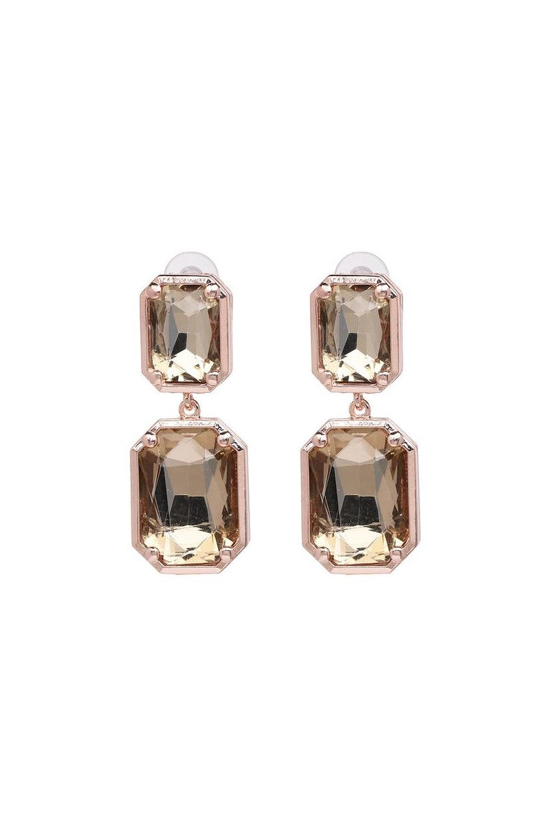Kate Wilson Champagne Drop Earring in Rose Gold