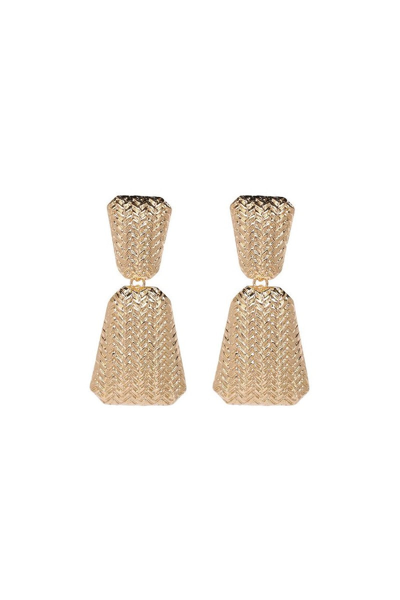 Kate Wilson Geometric Drop Earring in Gold