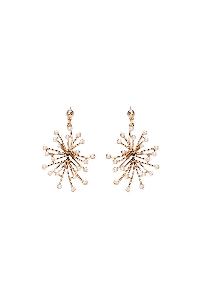 Kate Wilson Pearl Spray Earring in Gold