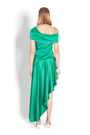 Nicola Finetti Mira Dress in Emerald