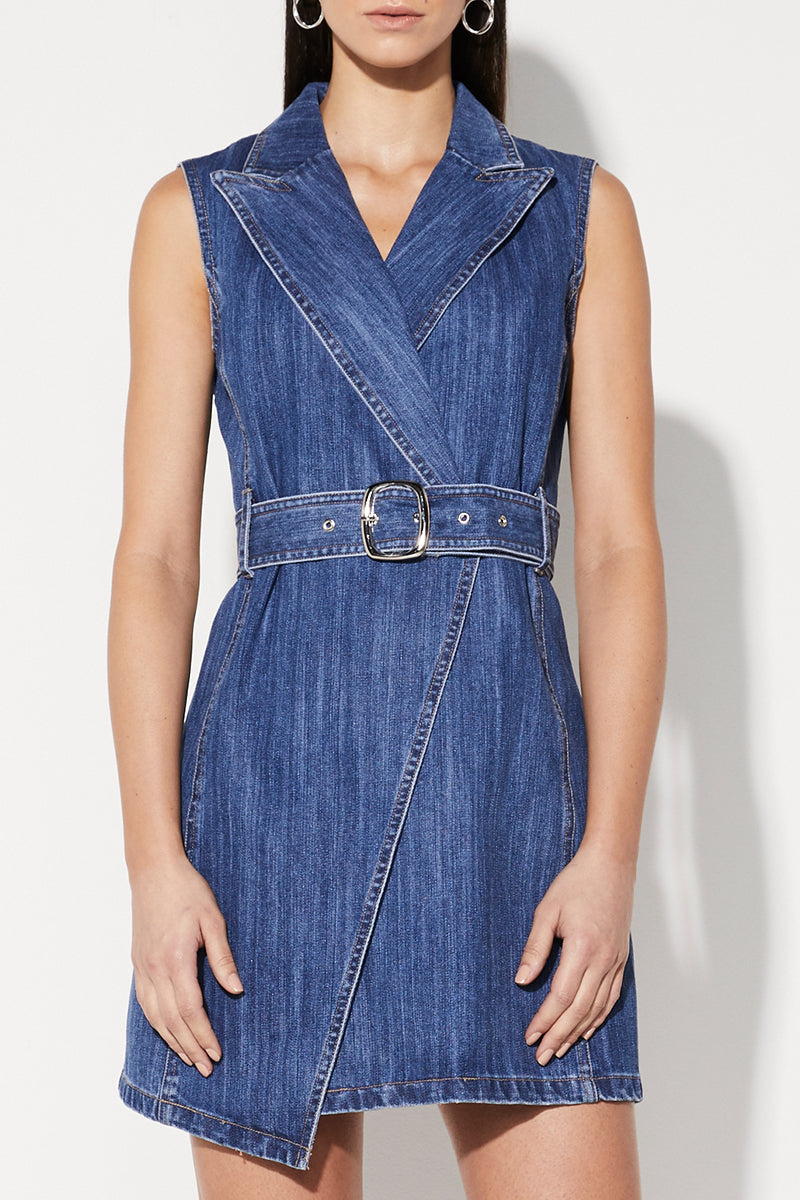 9dcb755773f Mossman No Looking Back Wrap Dress in Denim – Cloakroom Melbourne