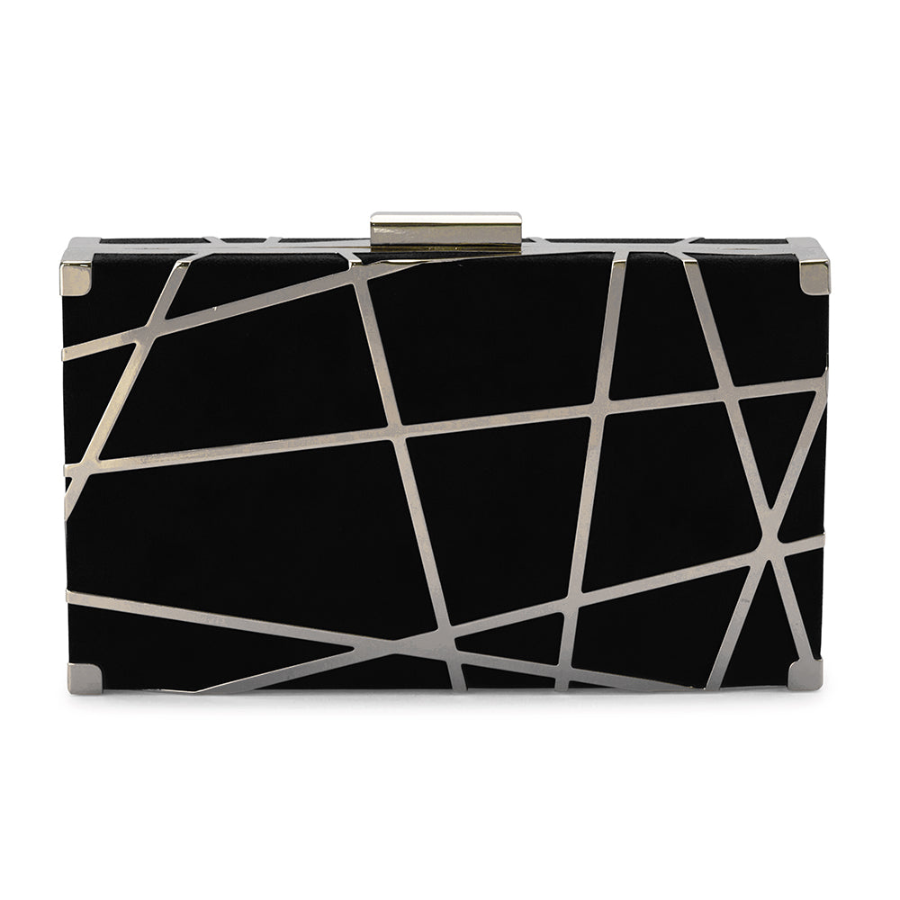 Olga Berg Kenzie Metal Striped Pod Bag