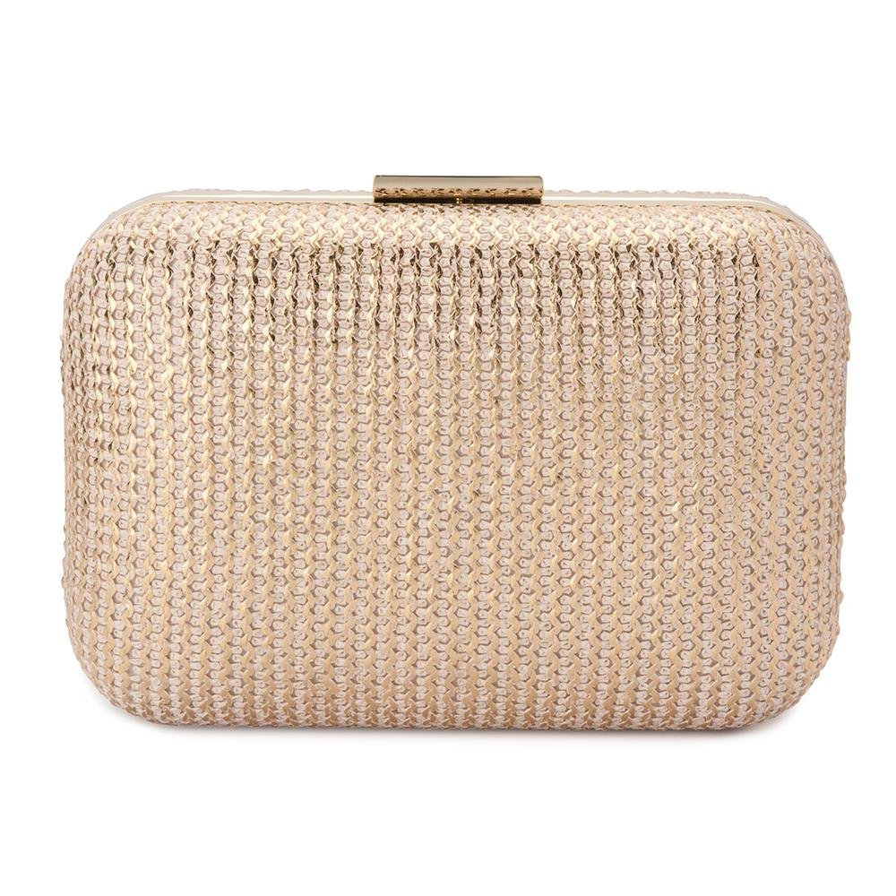 Olga Berg Lana Metallic Knit Pod in Gold