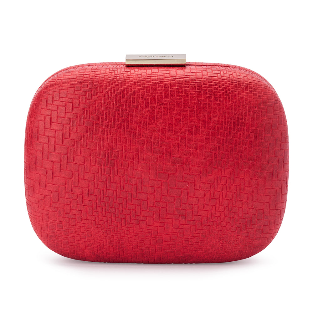 Olga Berg Isla Embossed Rounded Pod Bag