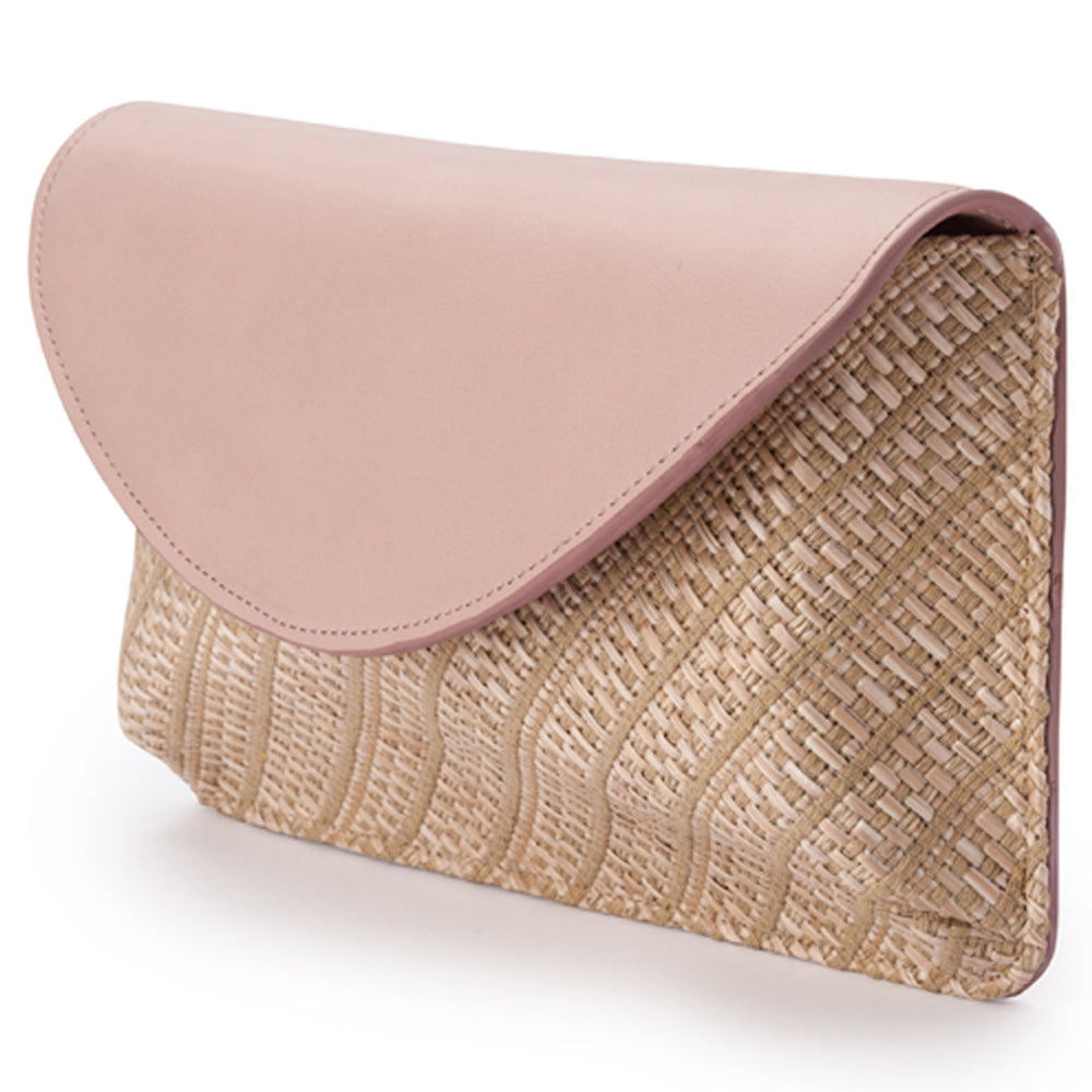 Olga Berg Hadley Two Tone Foldover in Blush