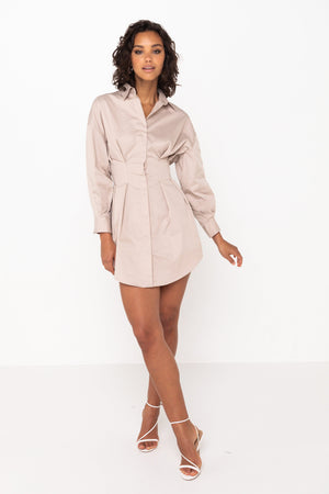 Mossman New Light Dress in Taupe