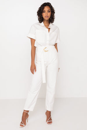 Mossman Seaside Pant in White