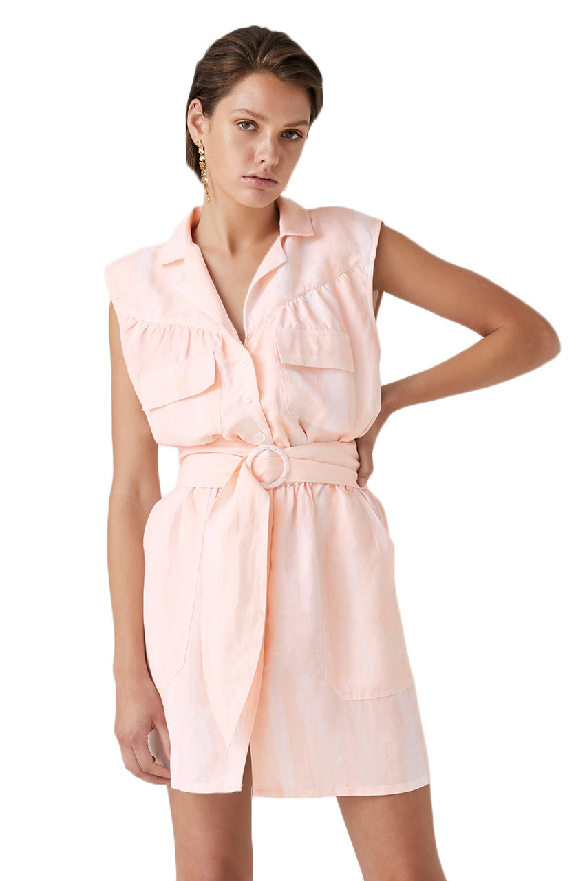 Steele Emmy Dress in Peach Wash