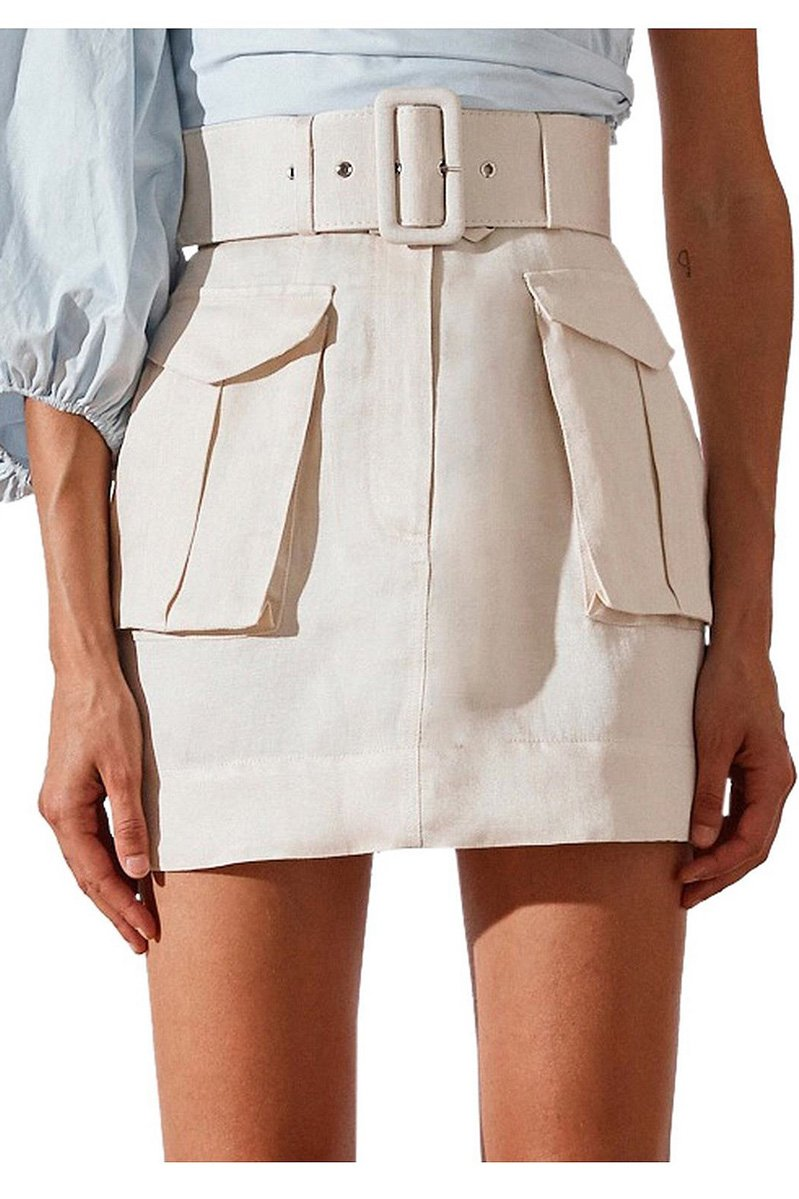 Shona Joy Ellington Mini Skirt with Belt