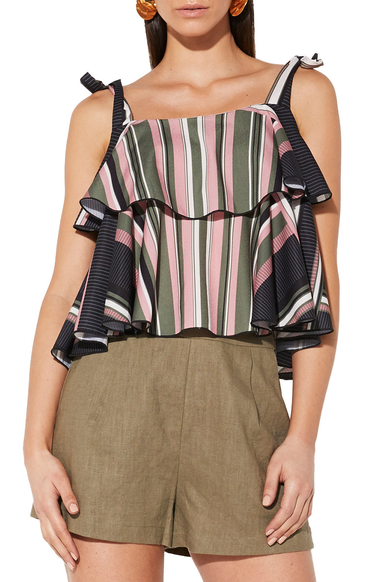 Mossman Sunset Amor Top in Stripe
