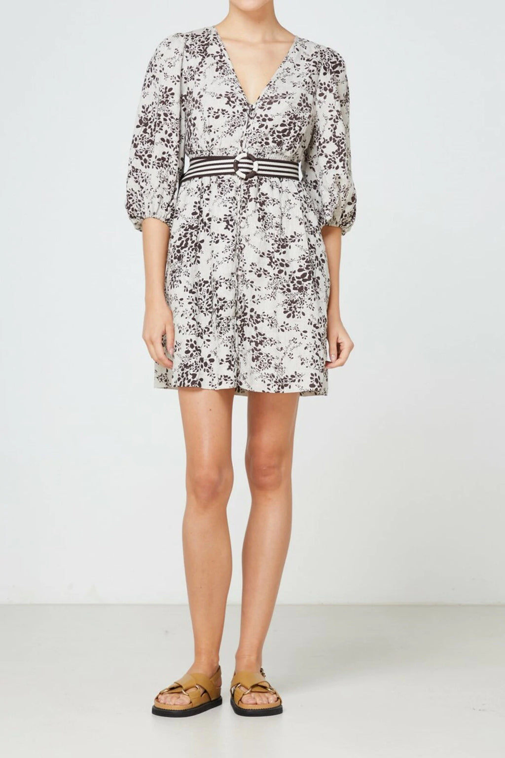 Elka Belmond Dress in Cocoa Print