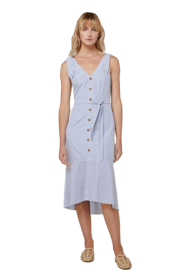 Elka Josephine Dress in Blue Stripe