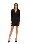 Georgy Yvonne Blazer Dress in Black