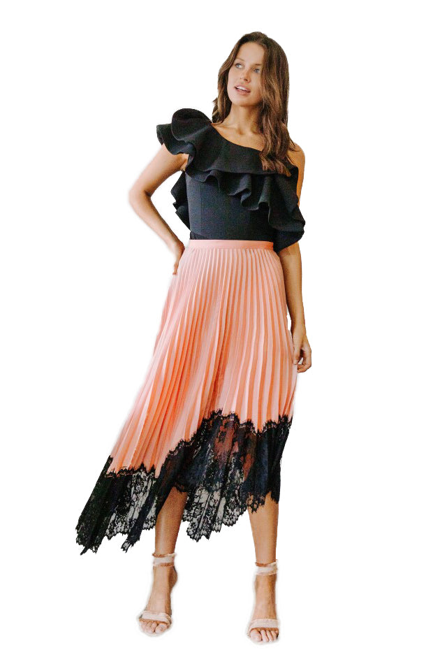 Ginger & Smart Amalgamate Skirt in Blush