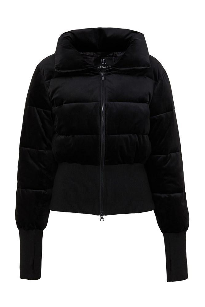 Unreal Fur Amsterdam Puffer Jacket in Black Velvet
