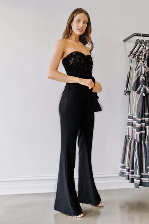 Rebecca Vallance Betty Jumpsuit in Black