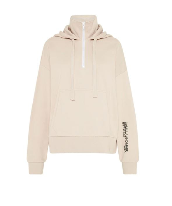 Camilla & Marc Lucas Fleece Hoodie Jumper in Bone