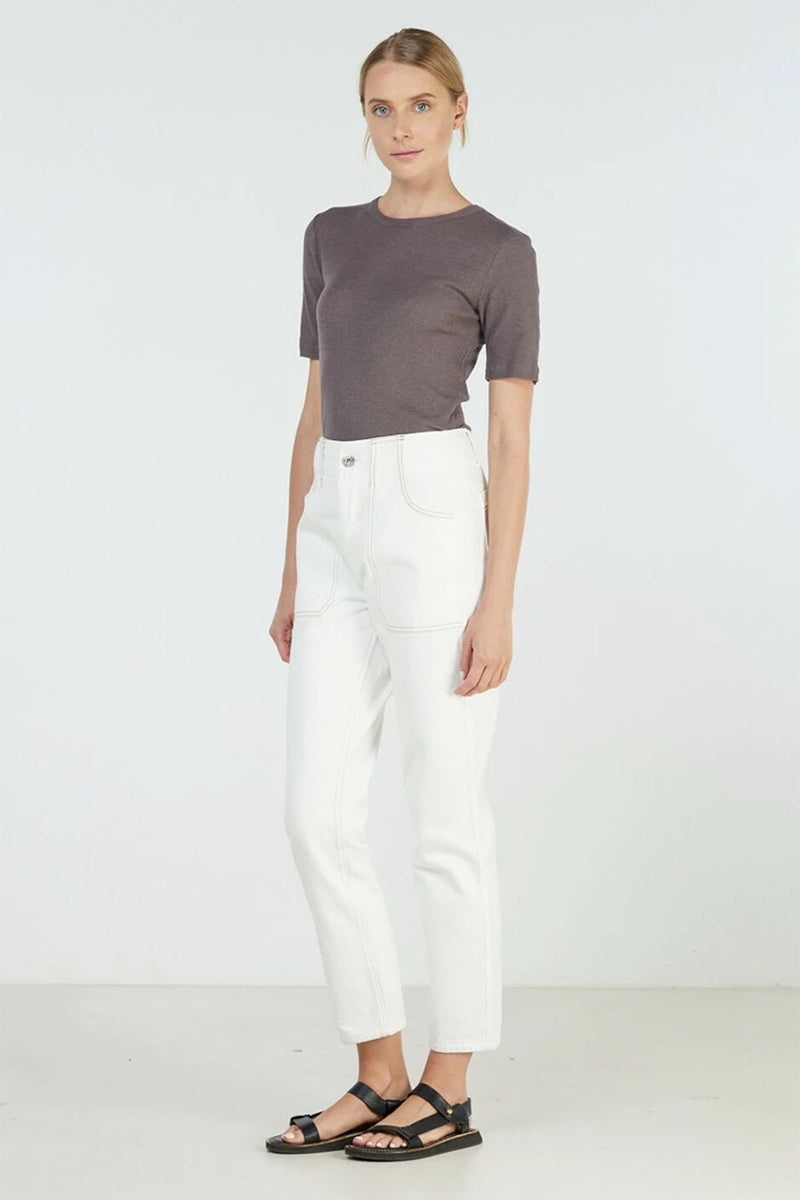Elka Coastal Jean in White Denim