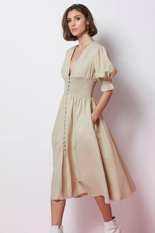 Elliatt Alanis Dress in Stone