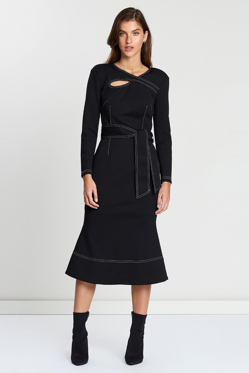 Elliatt Chiara Long Sleeve Dress in Black