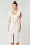 Elliatt Daisy Dress in White