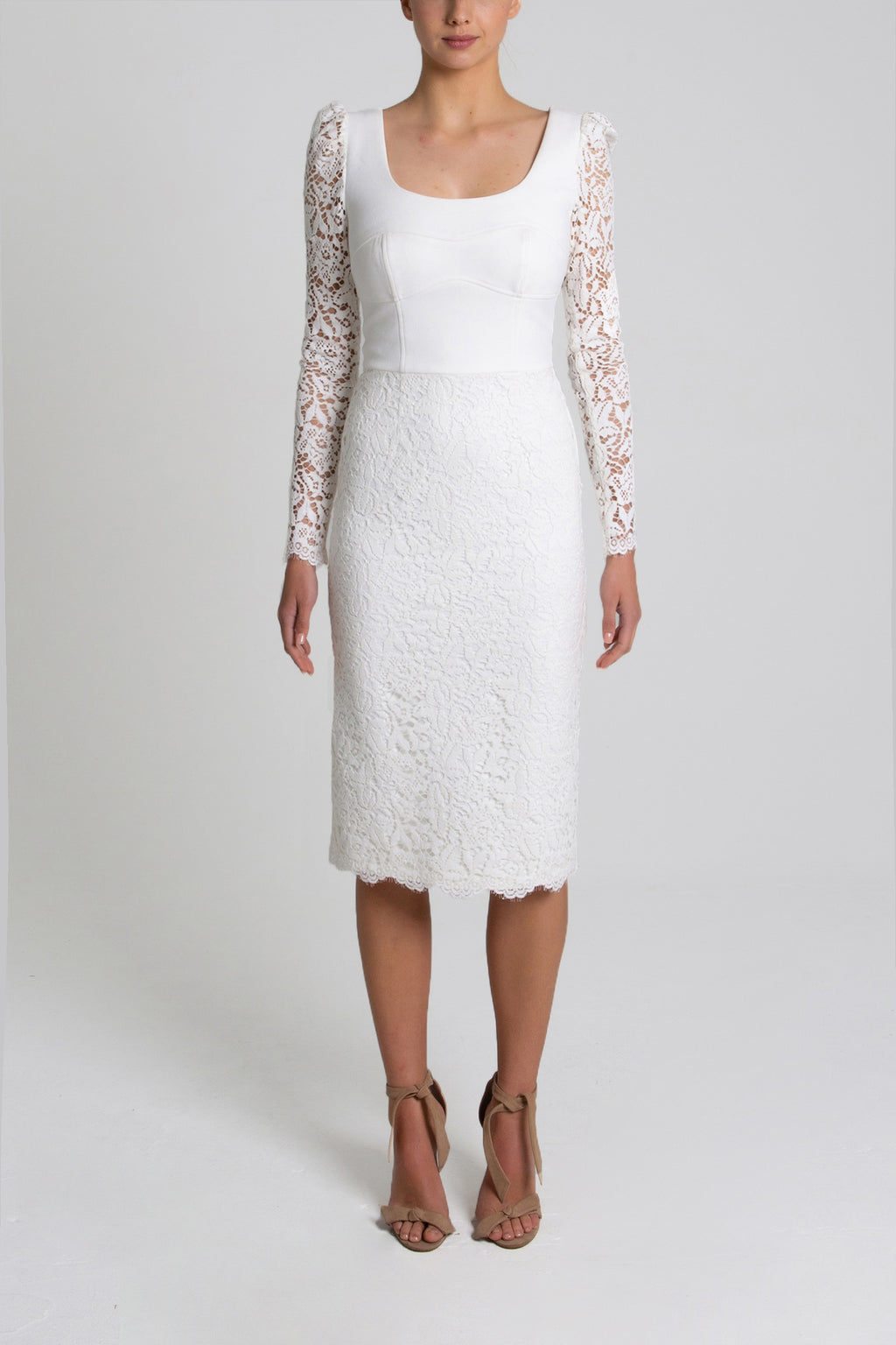 Rebecca Vallance Le Saint Lace Dress in Ivory