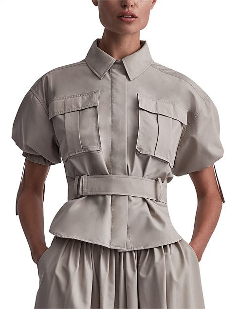 Camilla & Marc Frost Puff Sleeve Shirt in Oyster