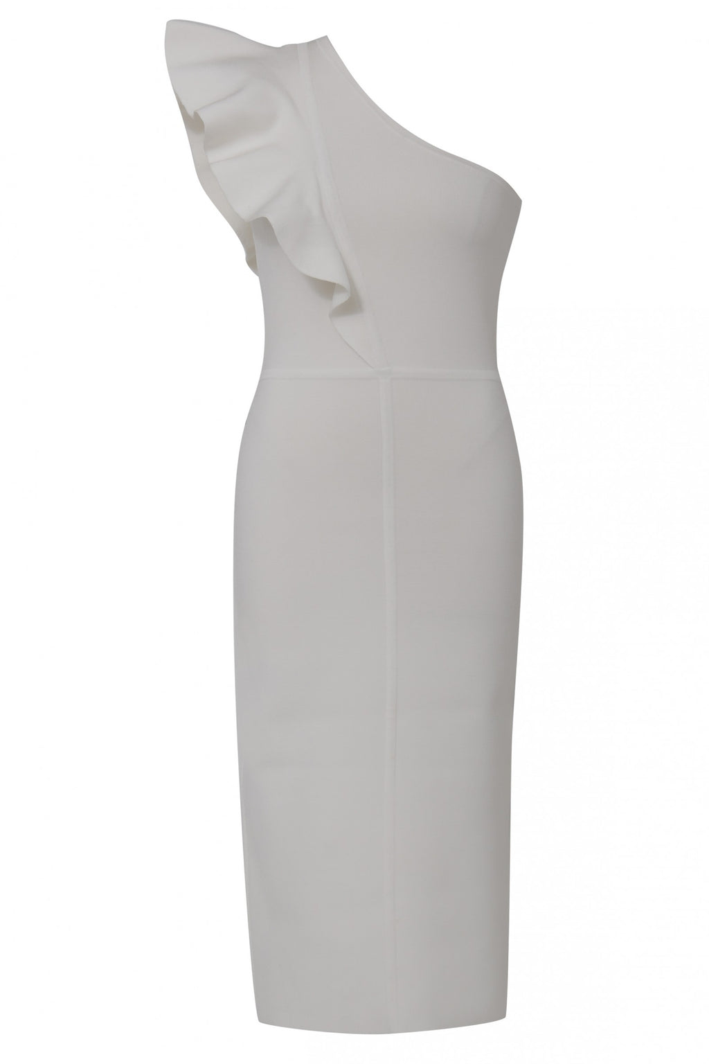 Anchor One Shoulder Dress in White