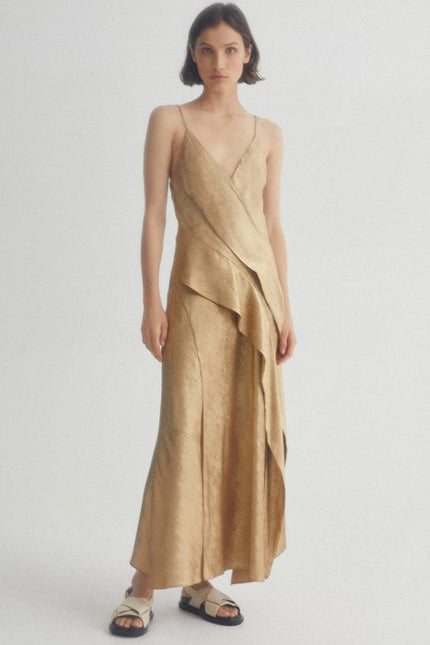 Acler Station Dress in Gold