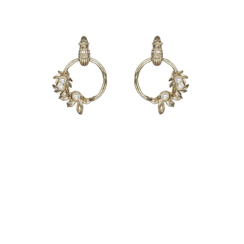 Kitte Isle Hoop Gold Earrings