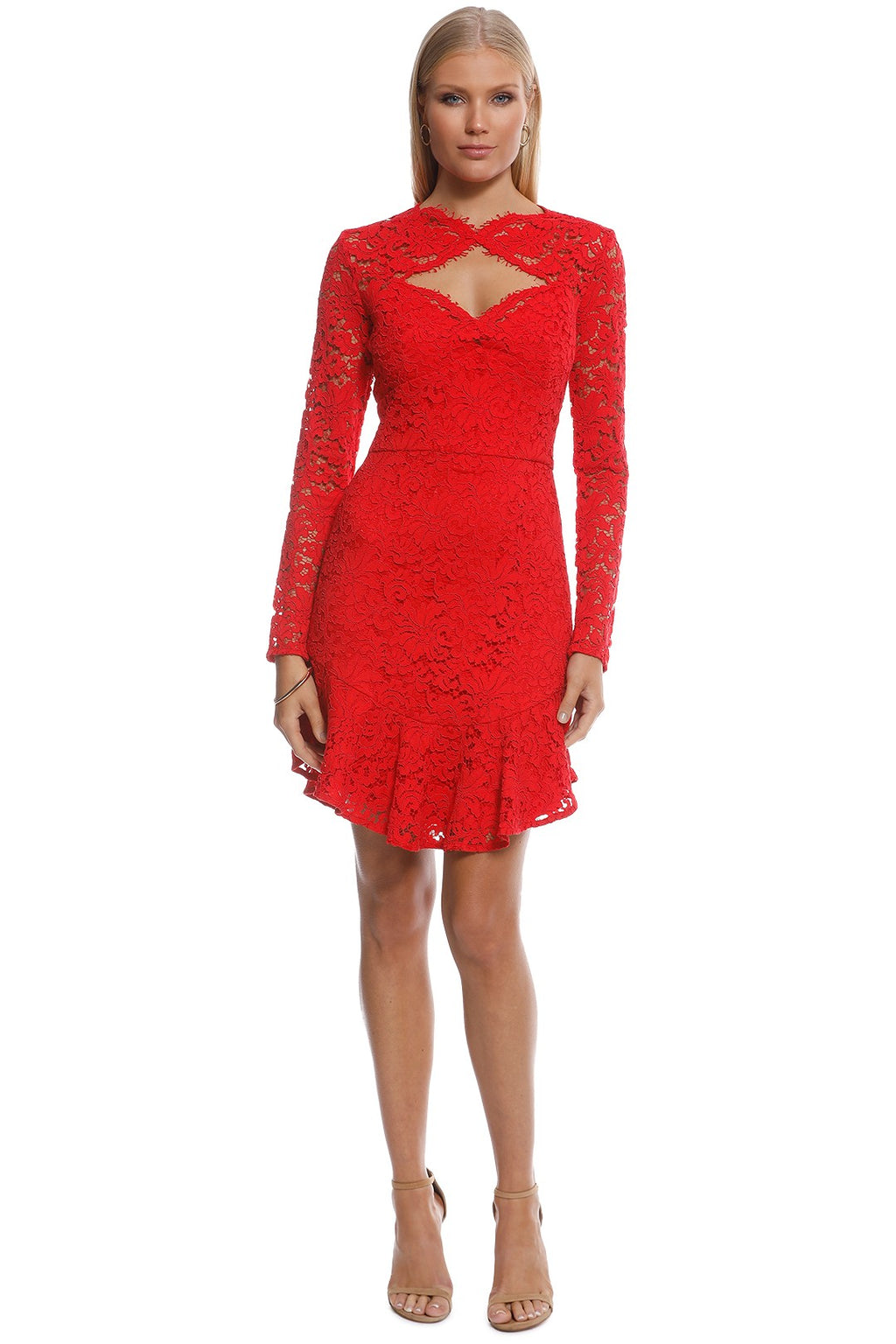 Lover Petal Flip Dress in Red