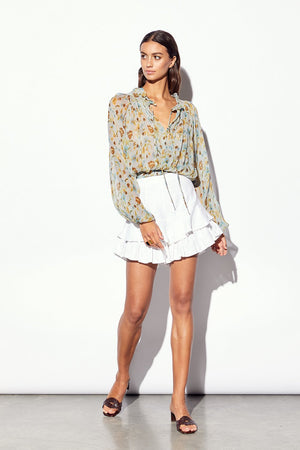 MLM Solstice Silk Blouse in Champagne Floral