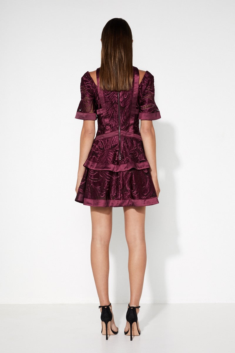 Mossman Unapologetic Mini Dress in Plum