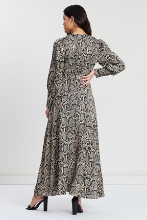 Mossman Venomous Dress in Snake Skin